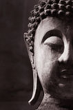 Ancient Buddha face Stock Image