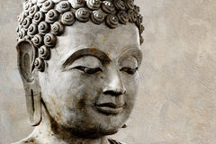Ancient Buddha face, Stock Photos
