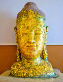 Ancient Buddha face Image, in Ancient temple,TH. Stock Photography