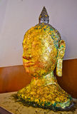 Ancient Buddha face Image, in Ancient temple,TH. Royalty Free Stock Photography