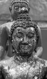 Ancient Buddha face. Phare, Thailand. Close up Ancient Buddha face. Phrae, Thailand Stock Photo