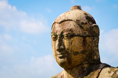 Ancient Buddha head Stock Photo