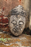 Ancient Buddha head without body at Srisatchanalai Royalty Free Stock Images