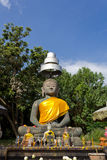 Ancient Buddha Image. Old Buddha Image in the Area of Thailand Historical Ruins, Wiang Kum Kam Stock Image