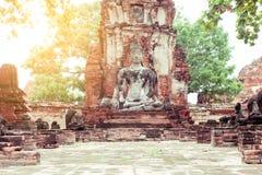 Ancient Buddha. Image, Ayutthaya Province, Thailand Stock Photography