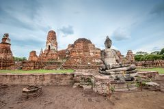 Ancient Buddha. Image, Ayutthaya Province, Thailand Royalty Free Stock Photos