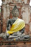 Ancient Buddha image in Ayutthaya, Thailand Royalty Free Stock Image