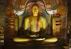 Ancient Buddha image in Dambulla caves, Sri Lanka royalty free stock image