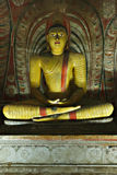 Ancient Buddha image in Dambulla, Sri Lanka Royalty Free Stock Image