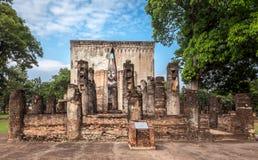 Ancient buddha image statue at Wat Sri Chum Sukhothai historical park Stock Image