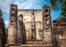 Ancient buddha image statue at Wat Sri Chum Sukhothai historical park Stock Images