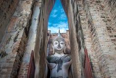 Ancient buddha image statue at Wat Sri Chum Sukhothai historical park Royalty Free Stock Photography