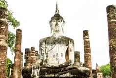Ancient buddha image Royalty Free Stock Photos