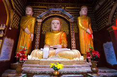 Ancient Buddha images Royalty Free Stock Images