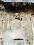 Buddha in longmen Grottoes Royalty Free Stock Photo