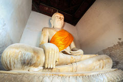 The ancient Buddha over 500 years Royalty Free Stock Images