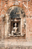 Ancient Buddha in Phra Prang Sam Yod Temple,Thailand. Royalty Free Stock Images