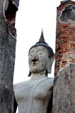 Ancient Buddha  Respectable of Buddhists in Thailand. Ancient Buddha  Respectable of Buddhists  Lasting hundreds of years  Located in Wat Mahathat, Chai Nat stock image