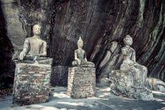 Ancient Buddha stock image