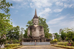 Ancient Buddha in Sala Kaew Ku, - Thai temple in h Royalty Free Stock Photos