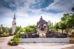 Ancient Buddha in Sala Kaew Ku,  Thai temple in hi Royalty Free Stock Photos