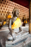 Ancient Buddha sculpture Royalty Free Stock Photo