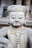Ancient buddha sculpture in Nepal Royalty Free Stock Photos