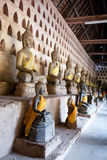 Ancient Buddha sculptures Royalty Free Stock Photos