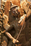 Ancient buddha sculptures of thailand stock image