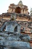 The Ancient Buddha. Royalty Free Stock Photo