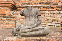 The ancient buddha statue Royalty Free Stock Photos