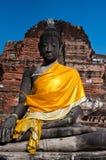 Ancient Buddha Statue, Ayudhaya Royalty Free Stock Images