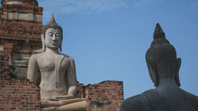 Ancient Buddha statue. In Ayuthaya, Thailand Royalty Free Stock Photo