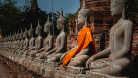 Ancient buddha statue. In Ayutthaya, Thailand Royalty Free Stock Photo