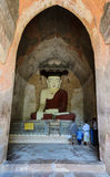 Ancient buddha statue in Bagan, Myanmar Royalty Free Stock Photo