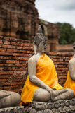 Ancient Buddha statue at Chaiwatthanaram Temple, Ayutthaya. Chaiwatthanaram Temple in ayutthaya province Thailand stock images