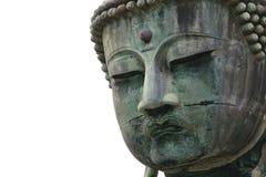 Ancient Buddha statue face Stock Photo