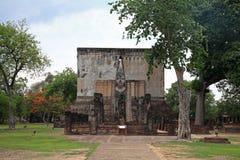 Ancient Buddha statue inside church Royalty Free Stock Image