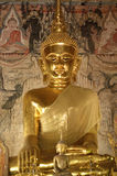 The ancient buddha statue, Nan, Thailand. Stock Photos