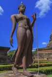 Ancient Buddha statue and pagoda Royalty Free Stock Images