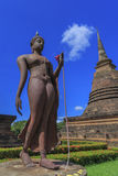 Ancient Buddha statue and pagoda Royalty Free Stock Photo