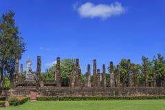 Ancient Buddha statue and pagoda Royalty Free Stock Photos