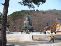 Ancient Buddha Statue in Park Royalty Free Stock Image
