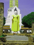 Ancient Buddha statue. Stock Image