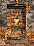Ancient Buddha Statue at Ruined Temple, Ayutthaya, Thailand Royalty Free Stock Images