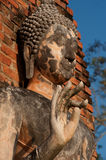 Ancient Buddha statue in Sukhothai city. . Stock Photo