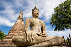 Ancient Buddha Statue at Sukhothai historical park, Mahathat Temple ,Thailand. Royalty Free Stock Images