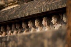 Ancient Buddha Statue at Sukhothai historical park, Mahathat Temple ,Thailand. Royalty Free Stock Photos
