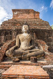 Ancient Buddha Statue at Sukhothai historical park, Mahathat Temple ,Thailand. Stock Images