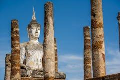 Ancient Buddha Statue at Sukhothai historical park, Mahathat Temple ,Thailand. Stock Photography
